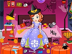 Игра София убирается после Хэллоуина
