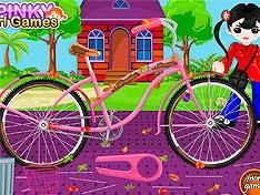 Помой велосипед девочки
