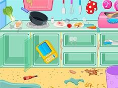 Игра Сделай чистой кухню ресторана