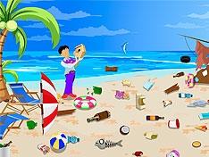 Очисти пляж от мусора