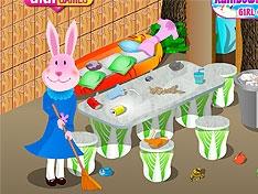Игра Уборка в кроличьем домике