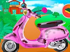 Игра Школьный скутер Барби