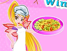 Игра Винкс: Готовим пиццу с флорой