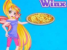 Игра Винкс: Флора готовит пиццу
