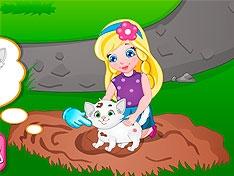Малышка София и ее кошка